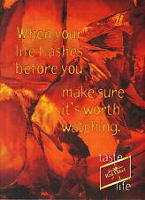 PUBLICITE  ADVERTISING  1991   JOHNNIE WALKER  whisky  RED LABEL