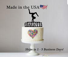 Gymnast Cake Topper, Gymnastics, Walk Over, Personalize Birthday Keepsake-LT1184