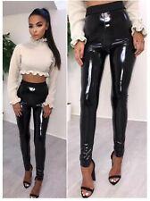 Débardeur Femme Soft strethcy Shiny Wet Look vinyl Leggings Pantalon Pantalons Bottoms