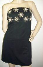 Trägerloses Damenkleid kurz CHARMING CLOTHES Roni Dress schwarz mit Perlen NEU