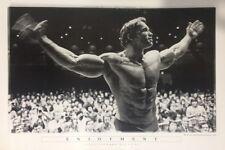 ARNOLD SCHWARZENEGGER ENJOYMENT POSTER (61x91cm) MR OLYMPIA 1974 PICTURE PRINT