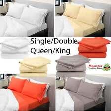 ROYAL COMFORT 75GSM MICROFIBER SHEET SET:SINGLE/DOUBLE/QUEEN/KING