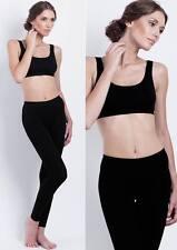 Uniconf Damen Basics Leggings Leggins aus Baumwolle für Sport Freizeit Fitness