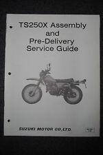 Suzuki TS250X Assembly And Pre-Delivery Service Guide