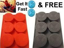 Spiderman Superhero Silicone Crayon Cake Chocolate Soap Ice Mold Mould Fun Comic