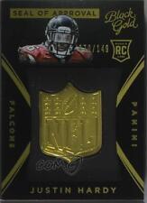 2015 Panini Black Gold NFL Seal of Approval #SOA-2 Justin Hardy Atlanta Falcons
