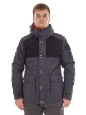 CMP Outdoorjacke Winterjacke Wetterjacke grau Taschen isolierend