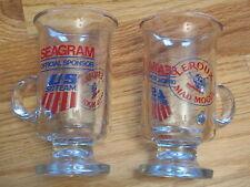 "SEAGRAM Sponsor US SKI TEAM Leroux Mad Mogul WINTER OLYMPICS 5"" Glass Mug"