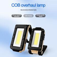 COB LED Flashlight Magnetic Work Light USB Rechargeable Torch Folding Hook Tent