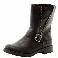 Nine West Girl's Melba Fashion Black Ankle Boots Shoes