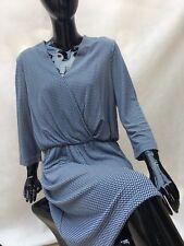 Tommy Hilfiger Women's NOLA  Dress- blue/white XL