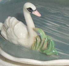 Karl Ens german  Porcelain  Dish windmill mark Bird Figurine Swan