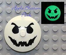 Lego 4x4 Glow in Dark Black GHOST FACE RADAR DISH - Monster Fighters Halloween