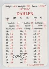 1997-98 APBA #ULDA Ulf Dahlen San Jose Sharks Hockey Card