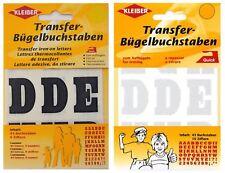 61x fer sur lettres Kleiber noir ou blanc alphabet chiffres Appliqué les transferts