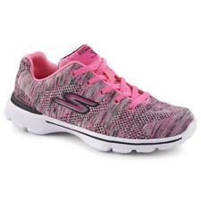 Skechers 81081L Kids Girls' GO Walk 3-Contest Sneaker, Hot Pink/Black, size 11