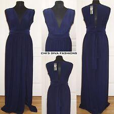 LOVE Plunge Neck maxi Dress With Wrap Belt Size UK 10