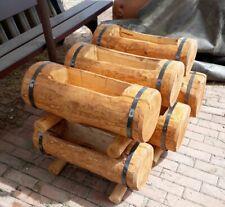 FIORIERA TRONCO LEGNO cm 60 80 100 vaso scavato esterno giardino pino impregnato