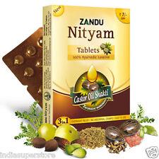 Zandu Nityam Herbal Tablets for Gas Flatulence Constipation Natural Herbs