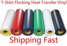1m T-shirt Flocking Heat Transfer Vinyl Choose From 6 COLORS