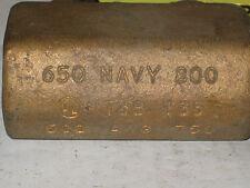 T&B Blackburn T35 Duel Brass Ground Rod Clamp AWG 500-750 650 NAVY 800 (TAG#453)