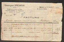 "METZ (57) USINE PAPIER & CARTON ""G. KREMSKI"" en 1920"