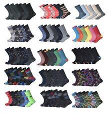 12 PARES HOMBRE diseño traje cotidiano Casual Oficina Calcetines De Algodón