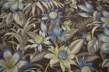 "Tommy Bahama Upholstery Drapery Fabric Print 54""W Botanical Glow Nutmeg Floral"