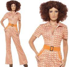 Mujer Auténtico AÑOS 70 Chic Disfraz 70's 1970s Disfraz NUEVO por Smiffys