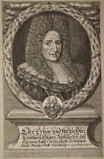 c1700 Höger Leonhard Rotgerber Ratsherr Nürnberg Kupferstich-Porträt