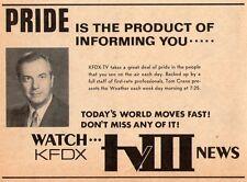 1970 KFDX tv ad ~ News w Tom Crane with Weather Report in Wichita Falls,Texas