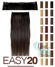 extension prolungamento capelli veri lisci clip Easy 20 Socap 1 fascia 50-55 cm