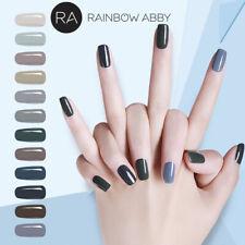 RA Gel Lack Grau 12x 8ml UV LED Soak Off Nail Art Nagellack Gellack Nagel Polish
