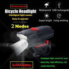 6 Modes AAA COB LED Bicycle Bike Light Front Rear Tail Helmet Flashlight Lamp