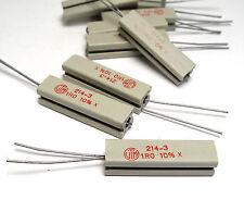10x Vitrohm Leistungs-Widerstand / Drahtwiderstand 214-3, 9W, diverse Werte!