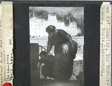 HONORE DAUMIER THE LAUNDRESS LANTERN SLIDE