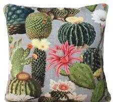 Cactus Cushion Cover Green Floral Cotton Printed Decorative Throw Pillow Case