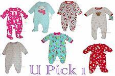 Sleep Play Xmas Fleece Girls Sleeper Warm Outfit Footed Pajamas Microfleece