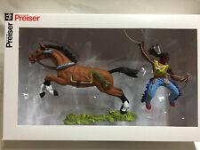 Preiser / Elastolin / 7cm bemalt - Indianer 54652 mit Pferd  , NEU & OVP