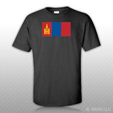 Mongolian Flag T-Shirt Tee Shirt Free Sticker Mongolia MNG MN