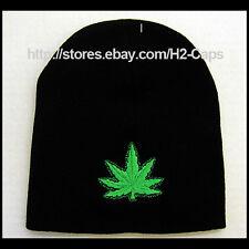420 POT LEAF Marijuana Dope Beanie Hat Ski Skate Snow Board