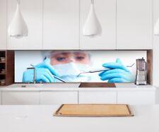 Aufkleber Küchenrückwand Medizin Zahnarzt Folie Möbelfolie Spritzschutz 22A277