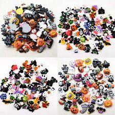 Halloween Calabaza Fantasma cráneo Araña Negro Diamantes de Imitación Perla arcos Plana-Back Craft