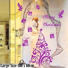 Grande albero di Natale Xmas REGALO ANGELO MURO vetrina decorazione adesivo