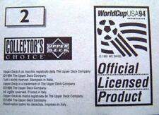1994 World Cup USA Upper Deck Italian Sticker UNSTUCK Soccer You Pick Player #2
