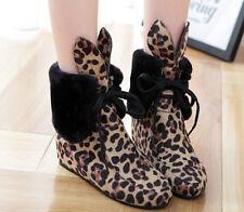 botas invierno cómodo mujer talón 4.8 cm como cuero negro beige blanco 8939