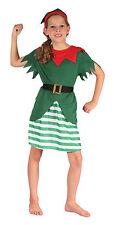 Infantil Disfraz de duende gnomo duende Navidad Disfraz Niña Ropa 4-6 & 6-8