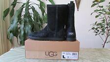 NIB UGG Australia Suede LO PRO Short Perf II Black Boots Size 6, 7