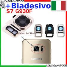 Lente Fotocamera camera Samsung GALAXY S7 G930 G930F Vetrino Cornice + BIADESIVO