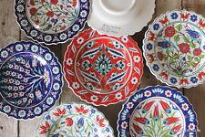 Classic Turkish ceramic plates - 25cm,handmade, hand painted Ottoman designs